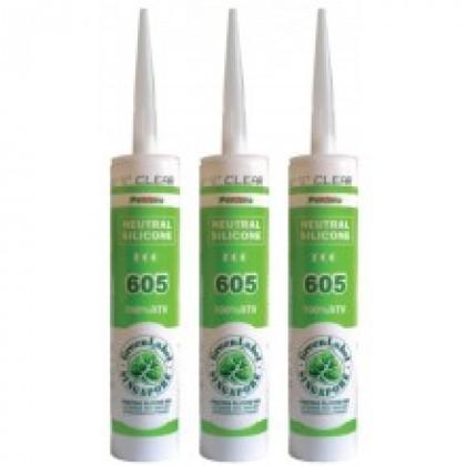 Pentens Neutral Cure Silicone Sealant 605 (100% Silicone) No Corrosion