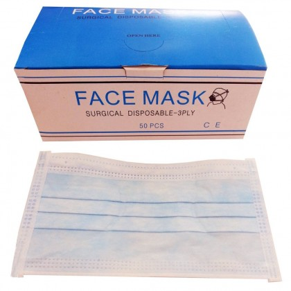 Face Mask Surgical Disposable 3Ply (1Box-50pcs)