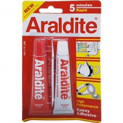 Araldite 5minutes Rapid High Performance Fast-setting Epoxy Adhesive (2 x 15ml)