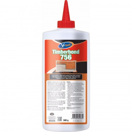 Wood And Parquet Adhensive 500g Extra Strong VT756 Timberbond (Dry Clear Colour)