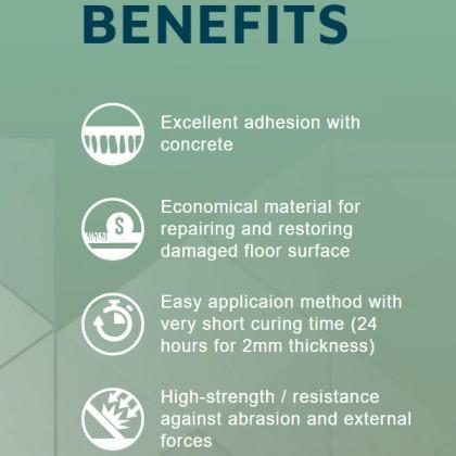 Concrete Floor Protector Epoxy Cement (Cement Keras Giler)
