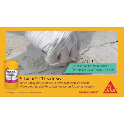 Concrete Crack Seal and Waterproof Epoxy Resin (A+B) 160ml